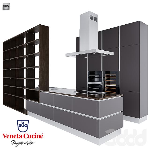 Кухонный гарнитур Ri-Flex от Veneta Cicine и техника V-ZUG.