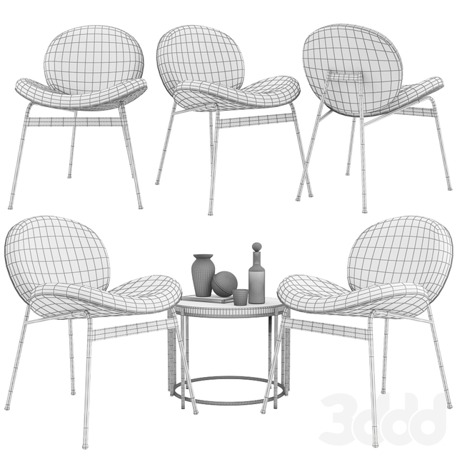 Lounge Chair Jane and Side Table Messina Nesting West Elm