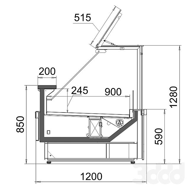 ОМ Холодильная витрина Missouri M 3.125 D