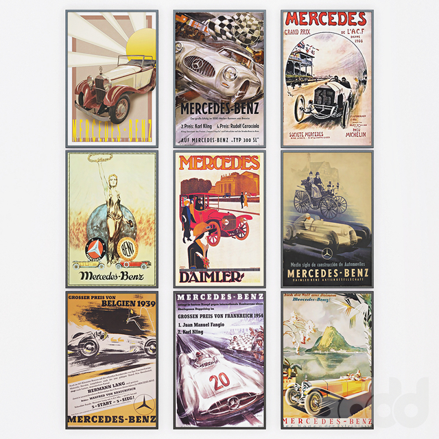 Mercedes - Benz Vintage Posters