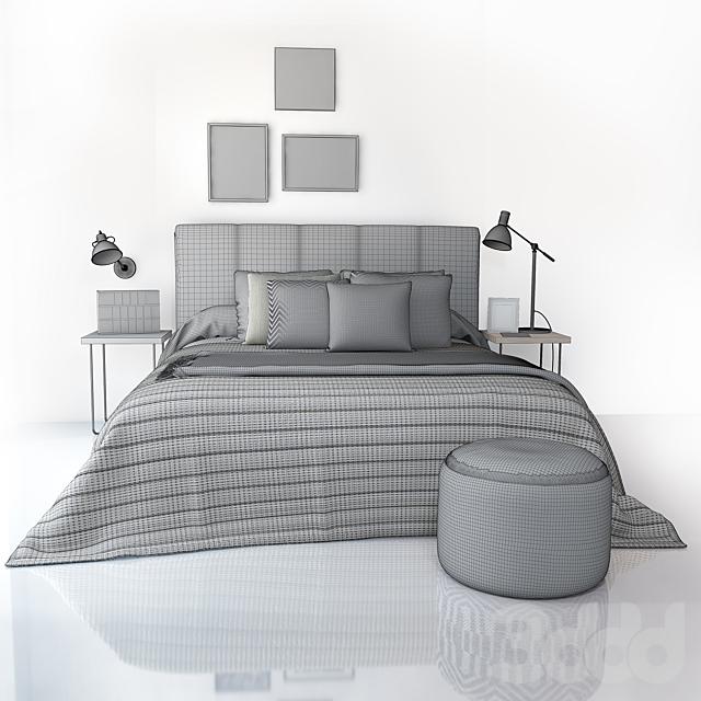 Кровать Kenay Kina cabecero gris oscuro