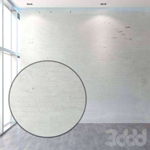 Старая отштукатуренная кирпичная стена