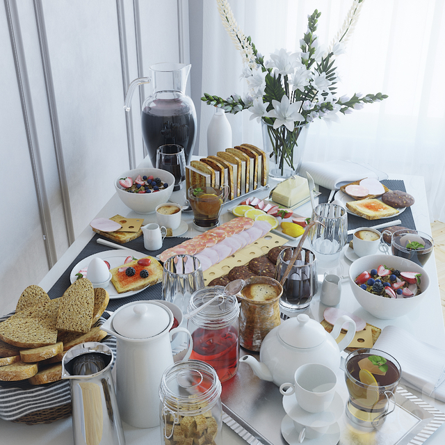 Сервировка стола 22. Завтрак -2
