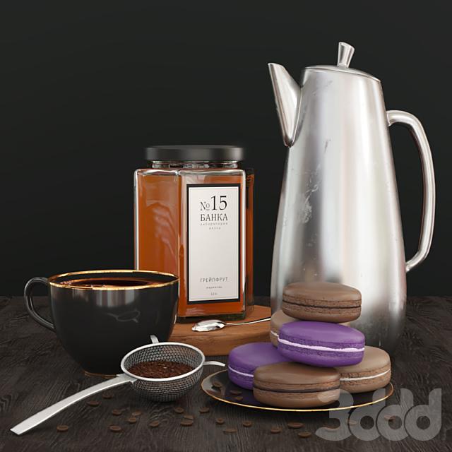 Кофе и макаруны