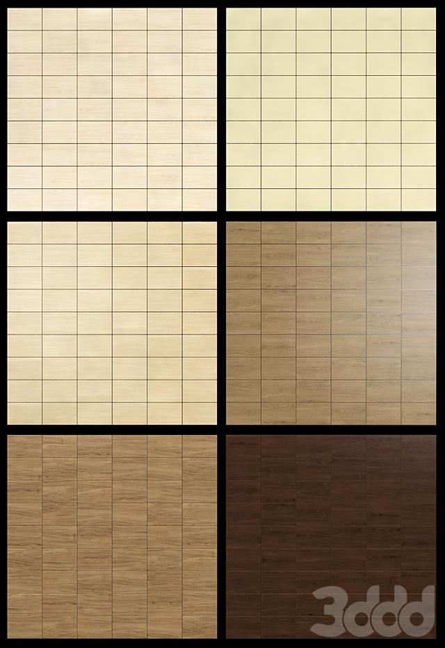 Акустические декоративные панели 6 видов, набор 3