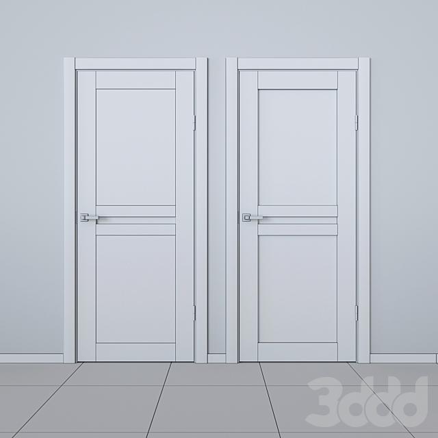 Шпонированные двери Bravo Euro беленый дуб
