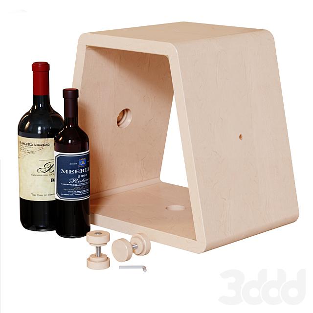 Модульный винный пристенный стеллаж.
