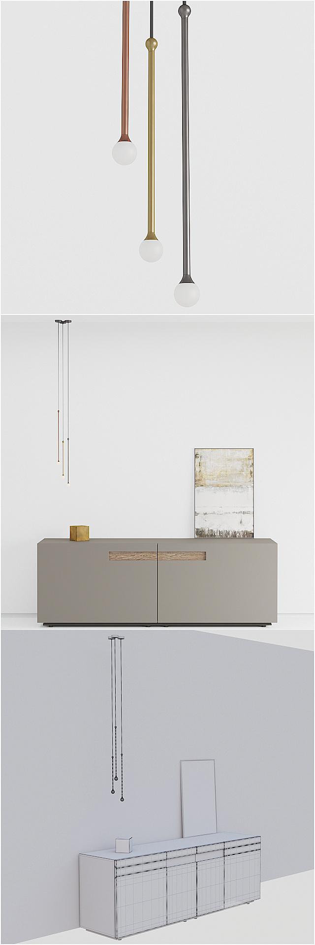 Presotto sideboard / Penta lights / Plaster / Decor