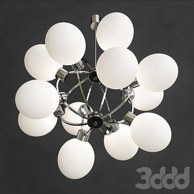 Space Age Sputnik Lamp 12