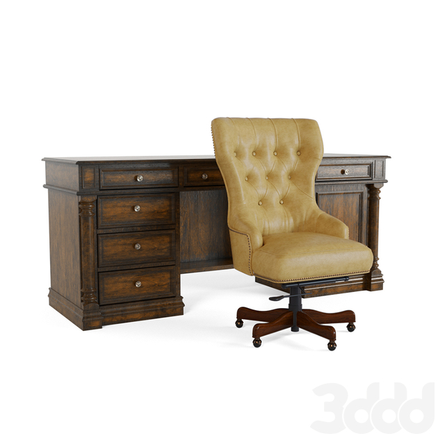 Hooker desk and chair