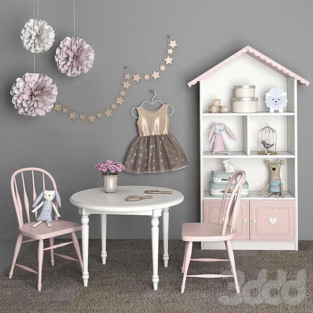 Мебель для детской комнаты девочки с декором 12