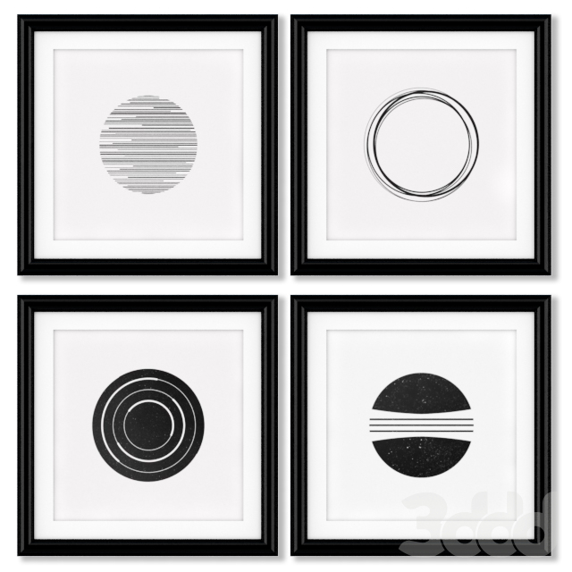 Серия постеров с геометрическими фигурами.