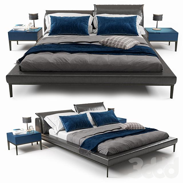 Vela Bed by Natuzzi