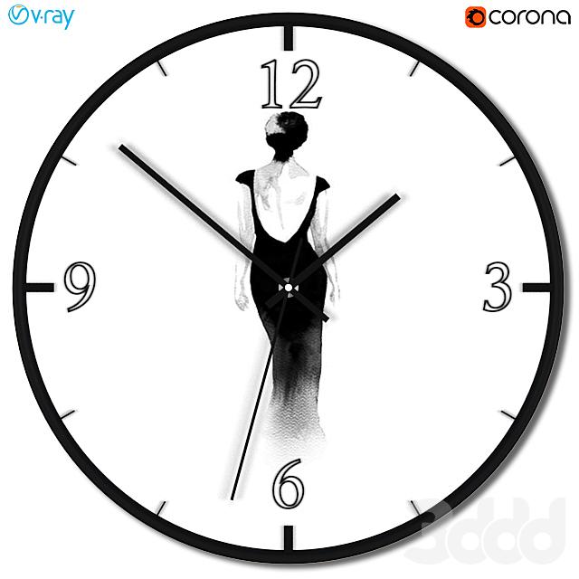Набор настенных часов с модными силуэтами