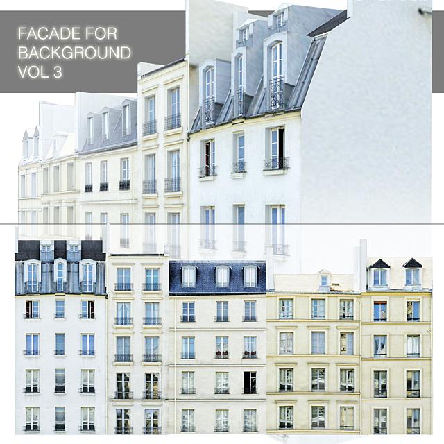 Фасад для бекграунда vol.3 Улица из пяти домов