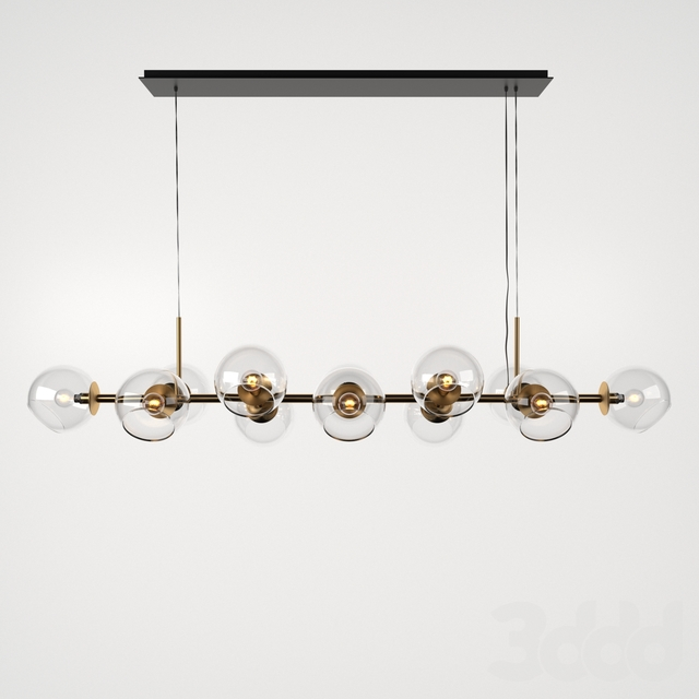 Staggered Glass Chandelier - 12-Light
