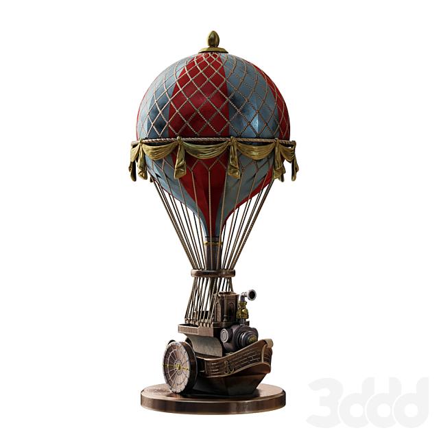 """Скульптура в стиле Стимпанк """"Воздушный шар"""""""