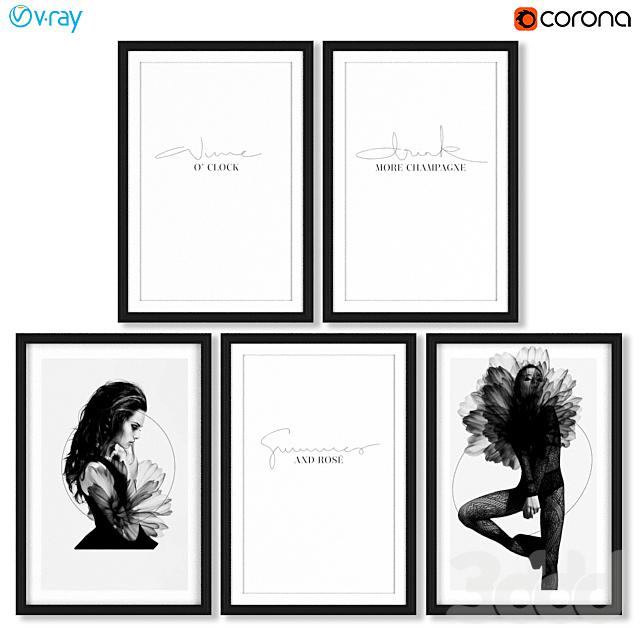 Серия женских постеров.
