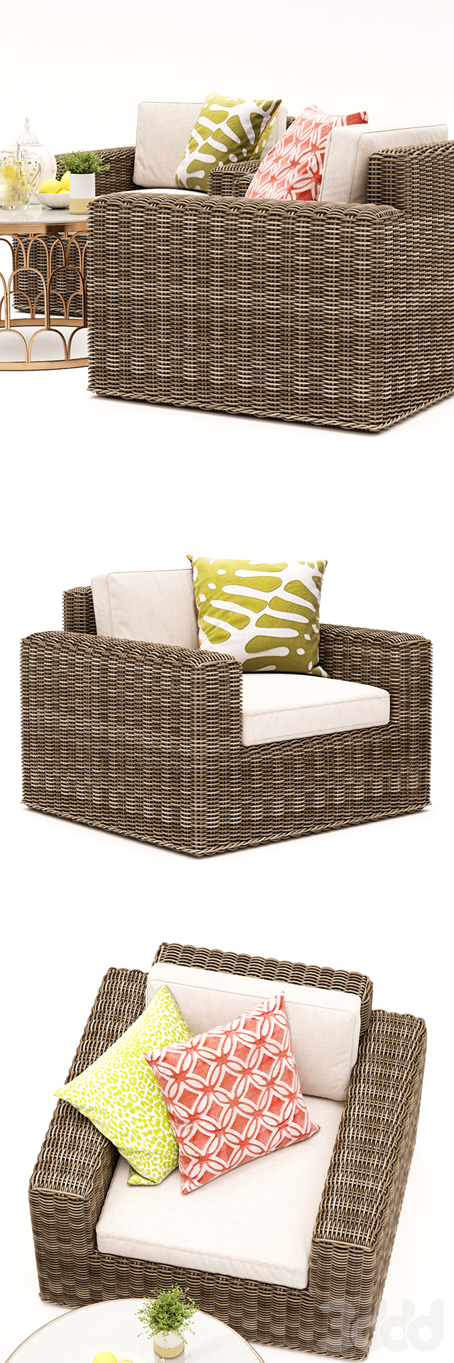 Vista Lounge Chair and Dunland Coffee Table