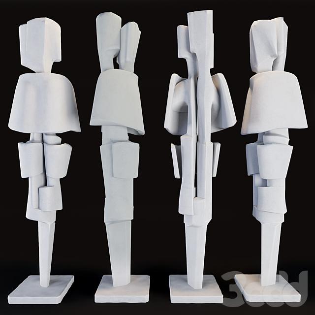 Flair 1970 Roger Desserprit Sculpture