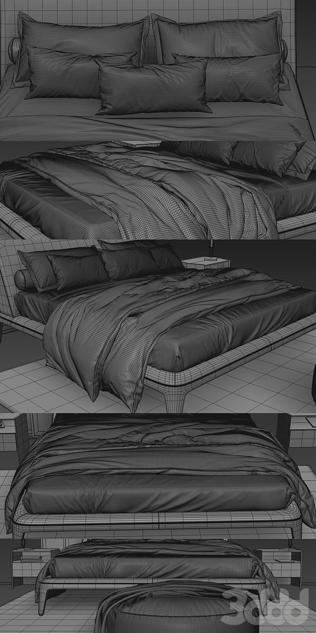 Poliform Kelly Imbottito Bed
