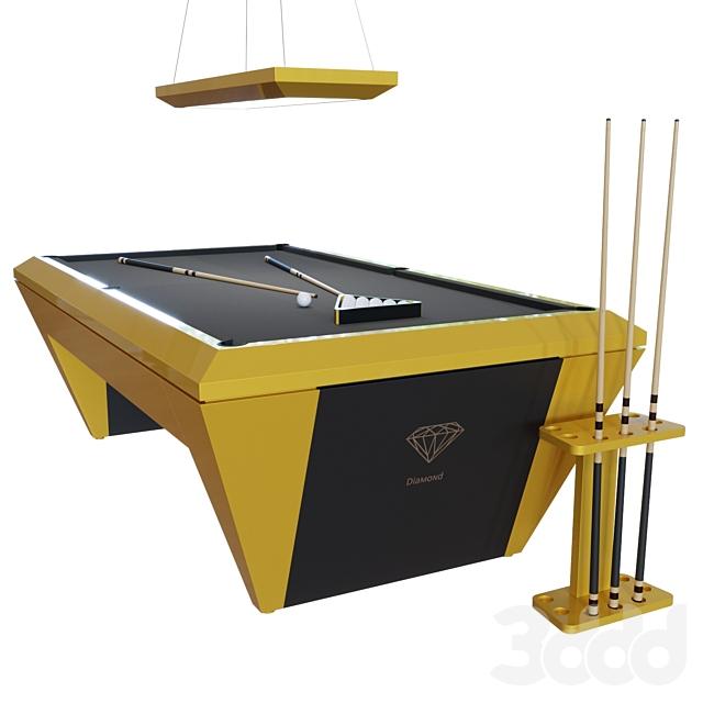 Diamond Modern American Pool Table - 9ft