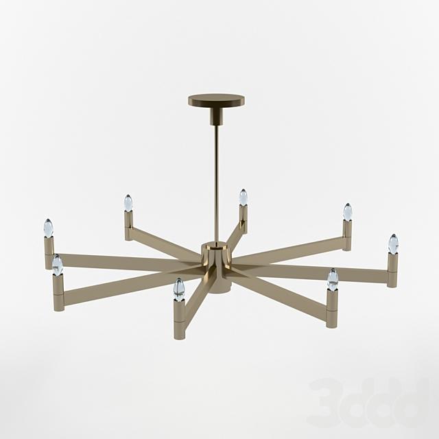 Round Chandelier design by Robert Abbey