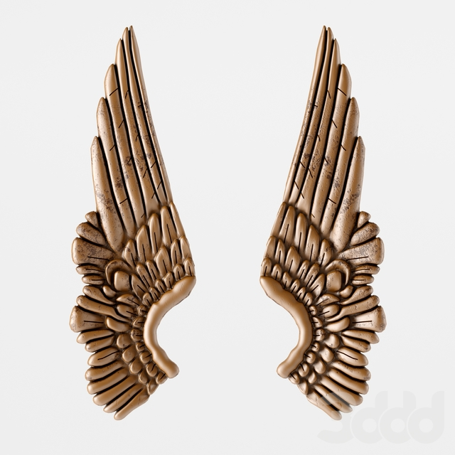 Настенный декор Angel Wings Bronze
