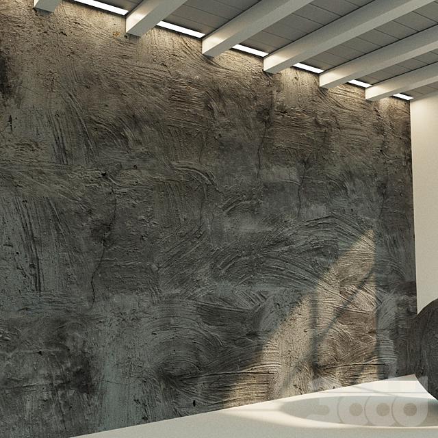 Бетонная стена. Старый бетон. 29