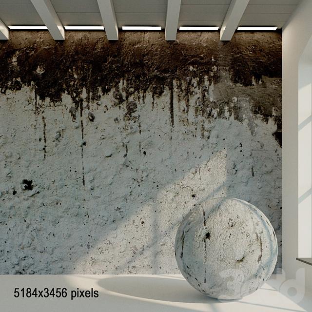 Бетонная стена. Старый бетон. 30