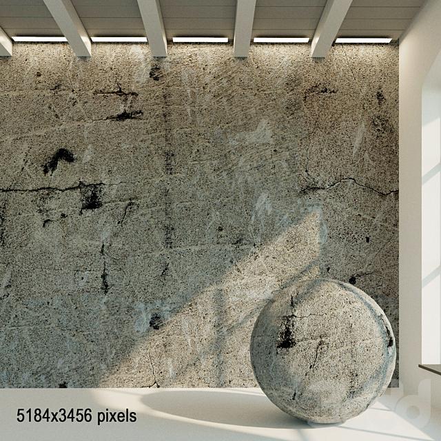 Бетонная стена. Старый бетон. 31