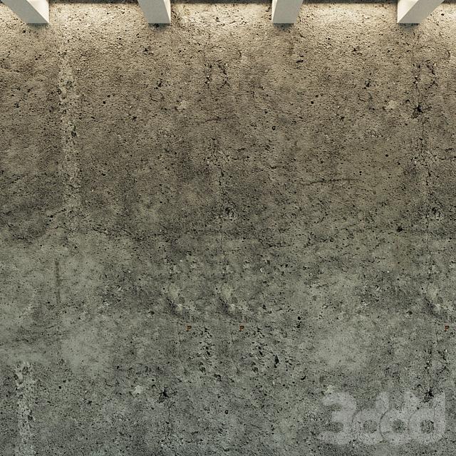 Бетонная стена. Старый бетон. 36