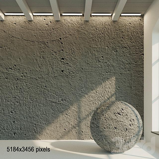 Бетонная стена. Старый бетон. 47
