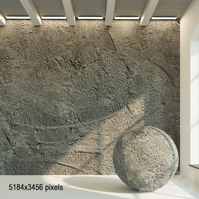 Бетонная стена. Старый бетон. 50