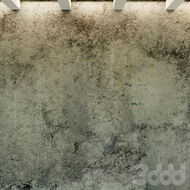 Бетонная стена. Старый бетон. 58