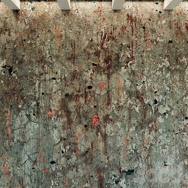 Бетонная стена. Старый бетон. 59