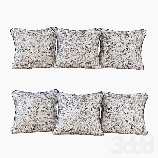 Набор подушек: желтый бархат, шеврон и гусиная лапка (Pillows yellow chevron and houndstooth)
