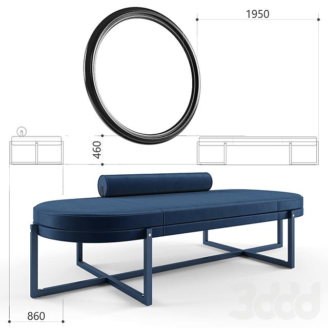 Bench Sigmund factory Arflex