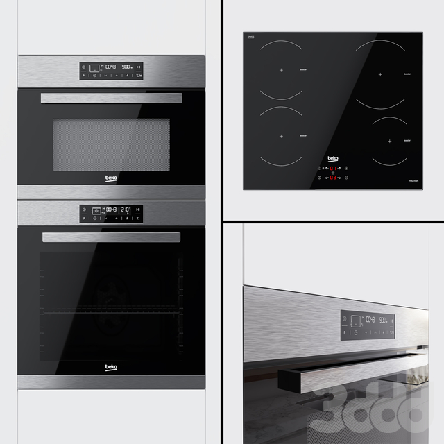 Beko - духовой шкаф BIM32400, компактный духовой шкаф BQW12400 и варочная поверхность HII64400AT