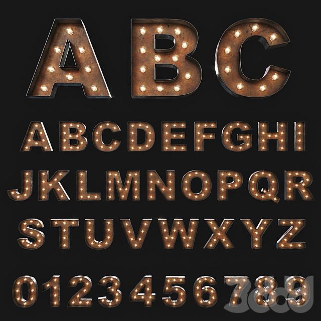 Vintage Marquee Letters/  Объемные буквы с подсветкой