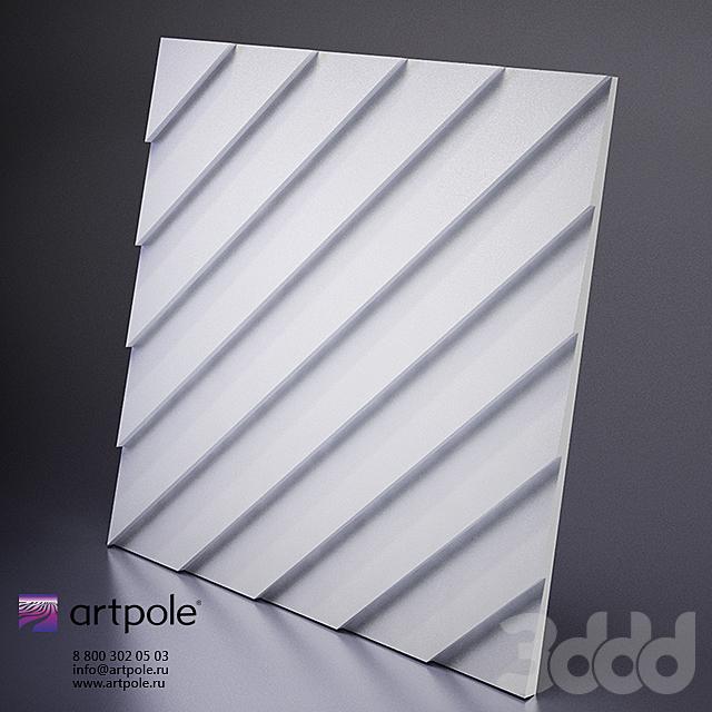 Гипсовая 3Д панель Lambert от Artpole