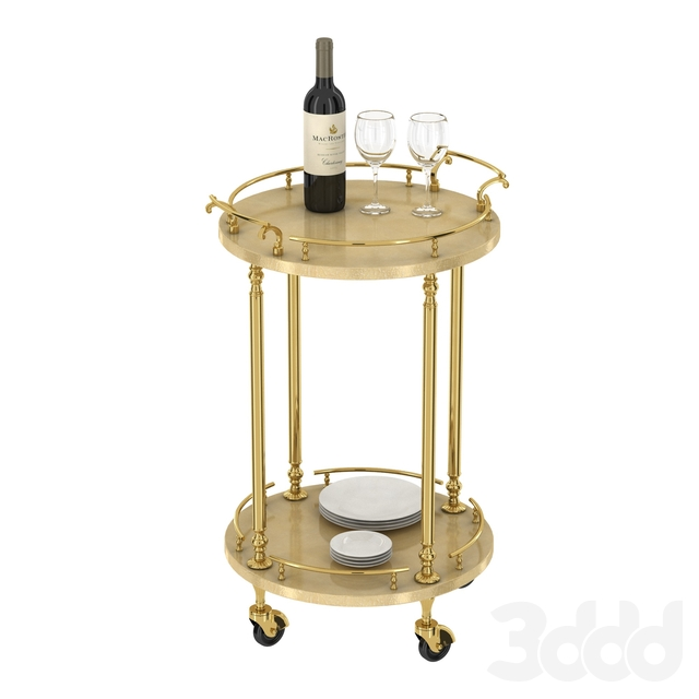 Bar cart trolley by Aldo Tura