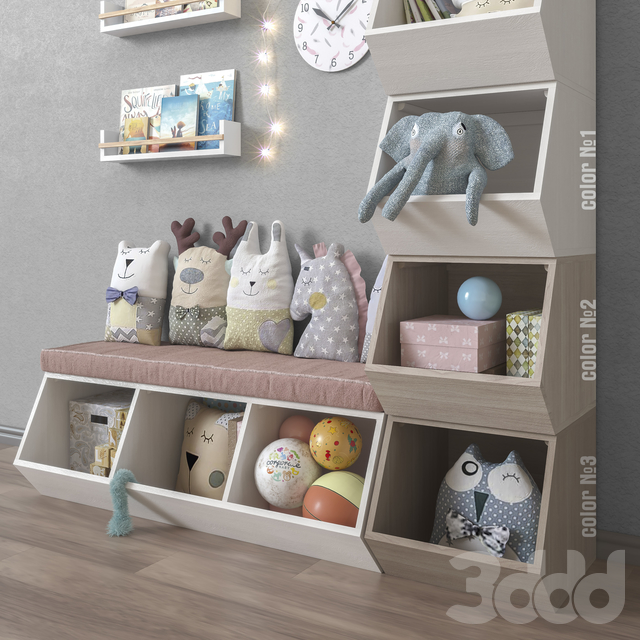 Toys and furniture set 36
