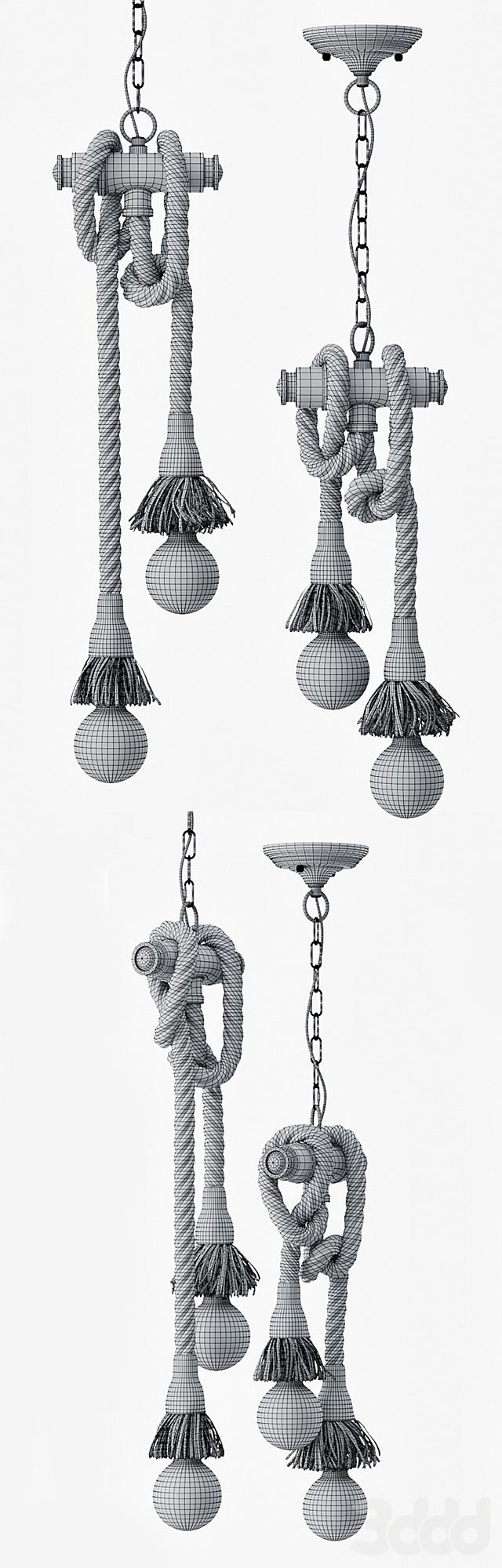Подвесной светильник в стиле Лофт (2 лампы Эдисона)