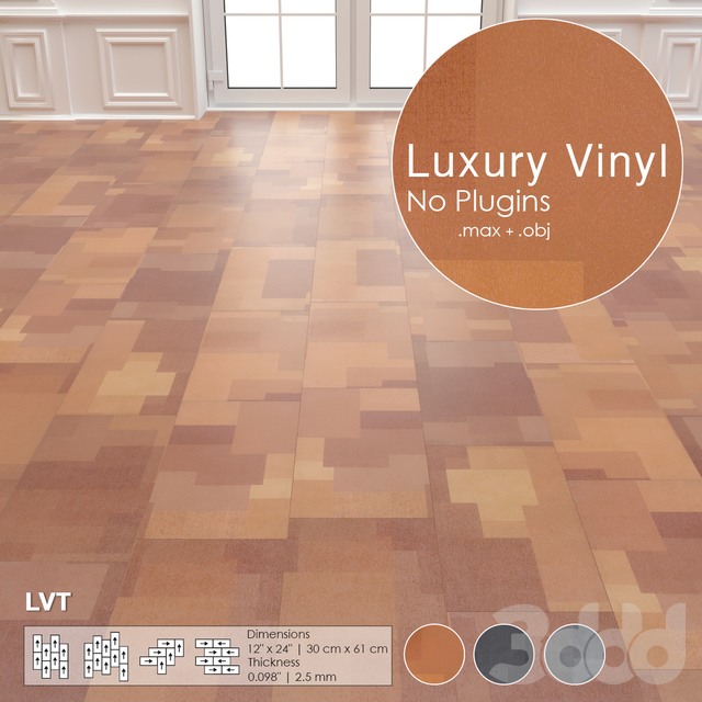 Luxury Vinyl Tiles No:18