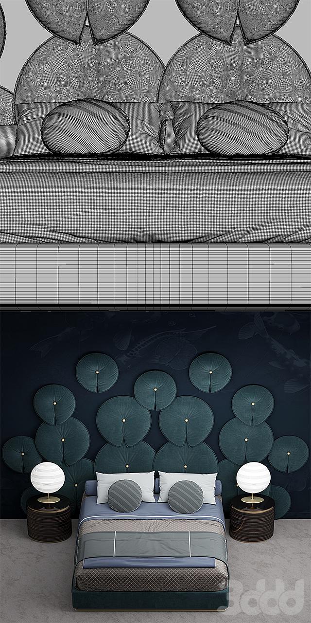 Кровать из стеновых панелей моего дизайна