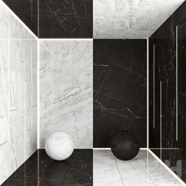 Black and White Marble 2
