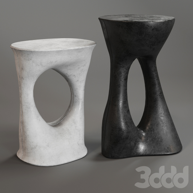 Pair of Kreten Side Tables - Tall and Short