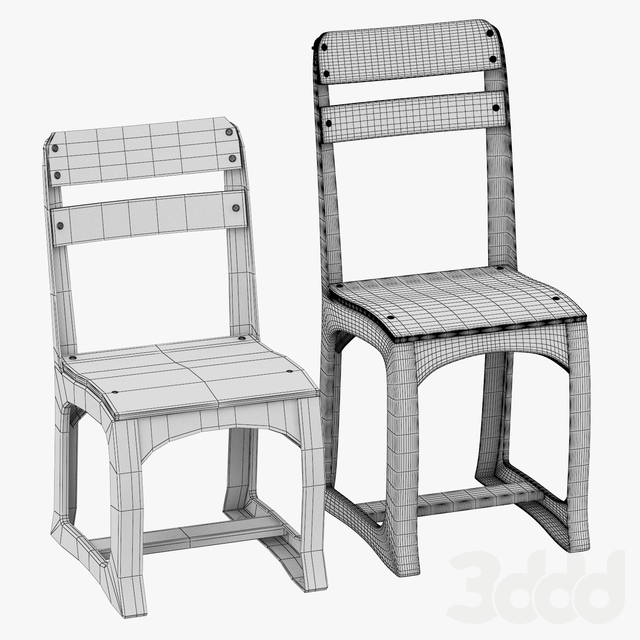 VINTAGE SCHOOLHOUSE PLAY CHAIR (SET OF 2)