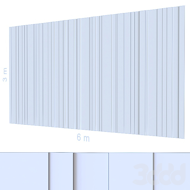 Декоративная стена 109.